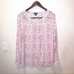 Tommy Hilfiger white pink 3 button tunic